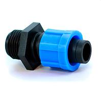 Фитинг стартер Presto-PS МТ 011712 с наружной резьбой 1/2 для капельной ленты (100 шт в уп.)