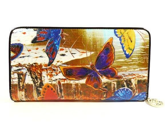 Кошелек кожаный женский бабочки Velina Fabbiano 2048-286