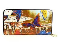 Кошелек кожаный женский бабочки Velina Fabbiano 2048-286, фото 1