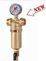 """Фильтр компактный для горячей / холодной воды ICMA c манометром ВР 1"""" / НР 1_1/_4"""""""