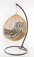 Подвесное кресло кремовое(подушка зебра)