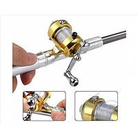 Портативная карманная телескопическая мини спиннинг удочка-ручка
