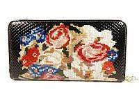 Кошелек кожаный женский вышивка Velina Fabbiano 2048-77129, фото 1