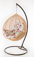 Подвесное кресло кремовое(подушка сакура)