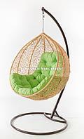 Подвесное кресло кремовое(подушка салатневая)