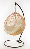 Подвесное кресло кремовое(подушка шампань)