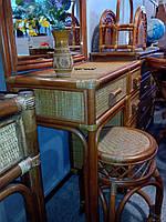Туалетный столик из ротанга+табурет