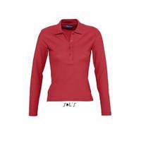Рубашки поло женские с длинным рукавом от тм Sols PODIUM, цвета на выбор