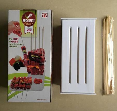 Приспособление для быстрого нанизывания шашлыка brochette express, фото 2