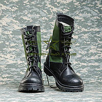 Берцы Нато кожа с тканевыми зелеными вставками 40р., фото 1