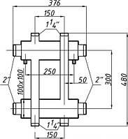 Коллектор двухбалочный (150) 1+1 выход
