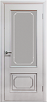 """Межкомнатные шпонированные двери """"Серебрянка"""" ПО, белый лак"""