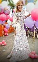 Длинное платье в пол штапель