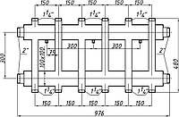 Коллектор двухбалочный (150) 3+3 выхода
