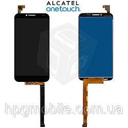 Дисплейный модуль (дисплей + сенсор) для Alcatel One Touch 6037 Idol 2, оригинал, черный