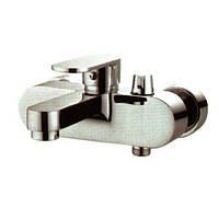 Смеситель для ванны HAIBA WOLF 009 хром короткий гусак / излив