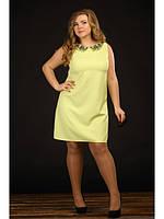Женское желтое платье больших размеров (р. 48-90) арт. Цитрус