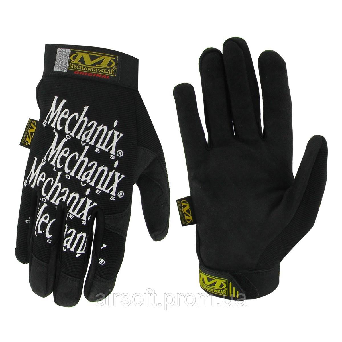 Тактические перчатки Mechanix (реплика), цвет черный