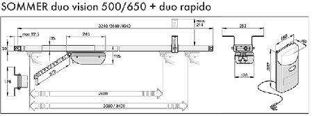 Автоматика для ворот Sommer Duo 650 SL, фото 2