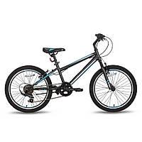 Велосипед 20'' PRIDE JACK 6 черно-синий матовый 2016