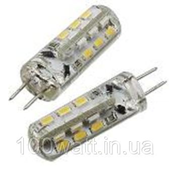 Лампа светодиодная 24LED G4 2800K 12v 1,5W HOROZ капсула в селиконе