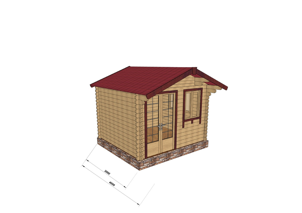 Дом из профилированного бруса 3х3