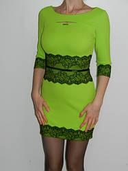 Короткое мини платье с гипюром  Exclusive 0166 р. М, L