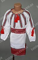 Оригинальное детское вышитое платье с поясом