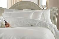 Изысканное постельное белье тм Gellin Home с кружевами ручной работы евро размера