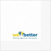 Бумажные салфетки  с логотипом 24х24см
