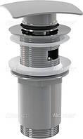 Донный клапан  для сифонов ALCAPLAST хром полуавтомат прямоугольный клапан