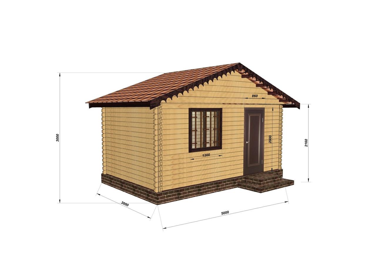 Дом из профилированного бруса 3х5