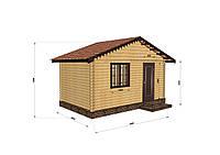 Строительство домов из профилированного бруса 3х5, фото 1