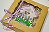 Корпоративная выпечка к 8 марта - расписной медовый имбирный пряник в подарочной упаковке ( брендирование)