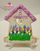 Корпоративная выпечка к 8 марта - расписной медовый имбирный пряник, фото 1