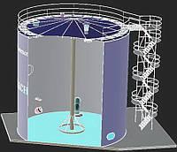 Производство и монтаж резервуаров вертикальных стальных цилиндрических тип  РВС для хранения : растительных ма