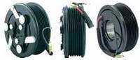 Шкив компрессора кондиционера в сборе Sanden (Honda) 100mm/7pk 12V