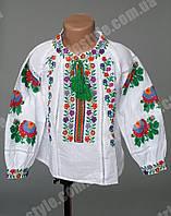 Вышитая детская блуза с воротником стойка