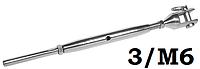 Талреп литая вилка-обжим на трос, 3/м6