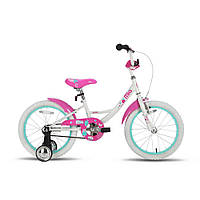 "Велосипед 18"" PRIDE MIA бело-розовый глянцевый 2016"
