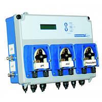 Станция дозирования Pool Kommander EVO с тремя насосами pH/Rx/Floc с функцией управления фильтрацией и нагрево