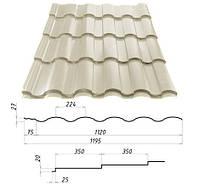 Металлочерепица VALENCIA™ (Валенсия) – металлочерепица для требовательных. 0,45 мм. - 0,5 мм. Сталекс, Штампованная, RAL 1014, 1190.0