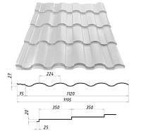 Металлочерепица VALENCIA™ (Валенсия) – металлочерепица для требовательных. 0,45 мм. - 0,5 мм. Сталекс, Штампованная, RAL 9003, 1190.0