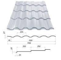 Металлочерепица VALENCIA™ (Валенсия) – металлочерепица для требовательных. 0,45 мм. - 0,5 мм. Сталекс, Штампованная, RAL 9006, 1190.0