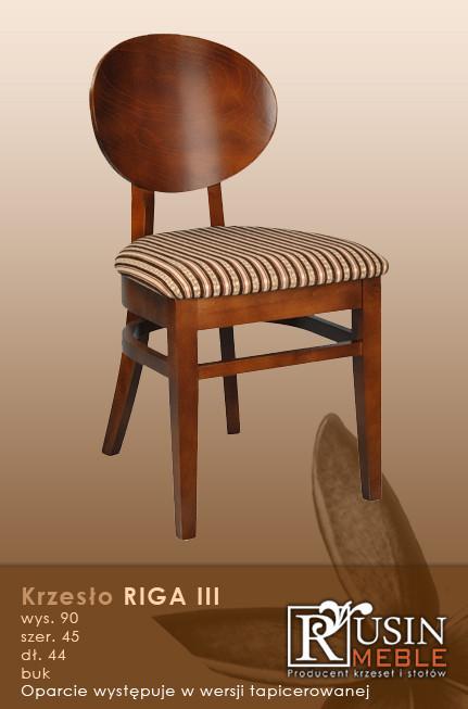Деревянное кресло Riga III (Rusin Meble)