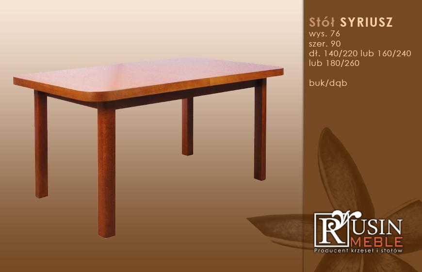 Стол деревянный Syriusz (Rusin Meble)