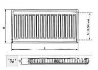 Радиатор стальной RK  тип 11 - K 500 x 1200 KINGRAD RADIK KLASIK
