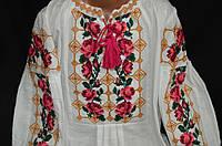 "Детская вышиванка ""Трояндове намисто"", домот.полотно, 122-158 рост, 360/330 (цена за 1 шт."