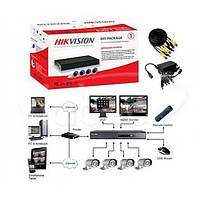 Комплект TurboHD видеонаблюдения Hikvision DS-J142I7104HGHI-SH