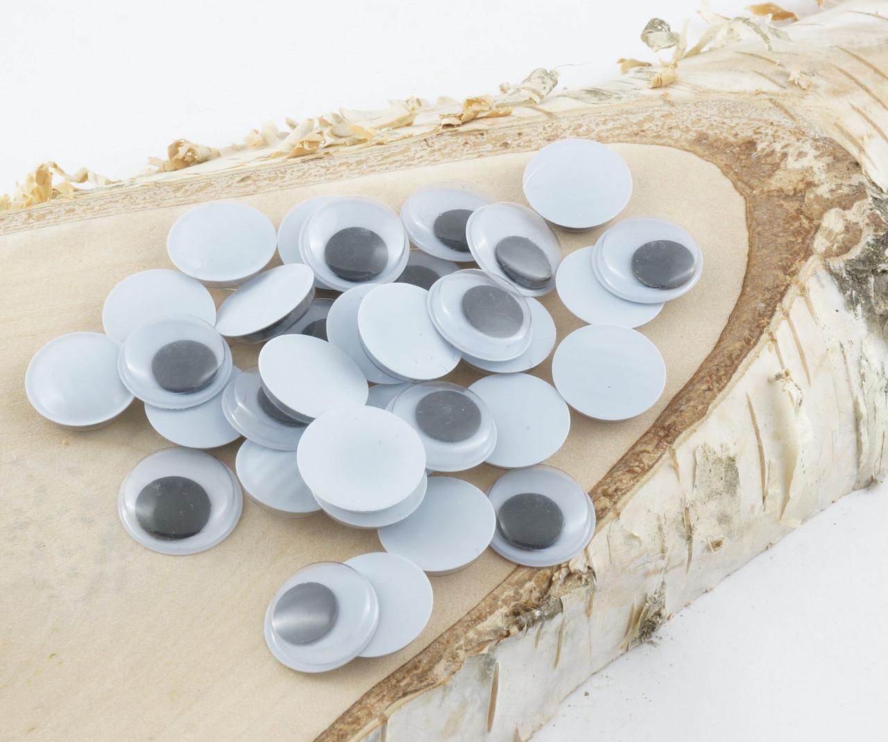 Глазки подвижные для игрушек круглые диаметр 6 мм 10 штук чёрные зрачки. Очі для іграшок круглі